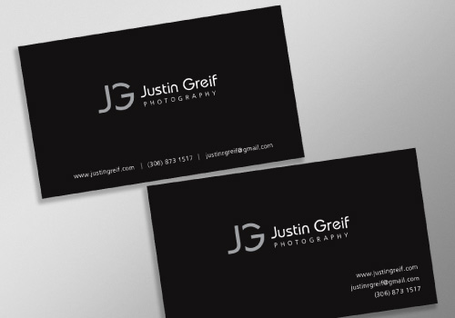 20 brilliant business card designers on designcrowd justin greif photography business card reheart Images