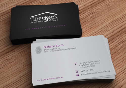 20 brilliant business card designers on designcrowd sherlock holmes winning business card colourmoves Gallery