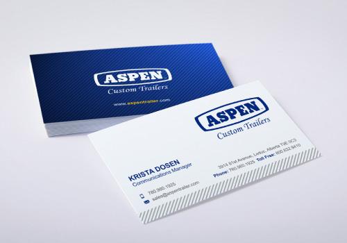 aspen custom trailers business card - Business Card Ideas