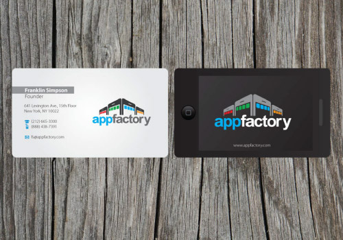 20 brilliant business card designers on designcrowd app factory business card reheart Gallery