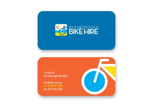 20 brilliant business card designers on designcrowd dunsborough bike hire business card logo colourmoves
