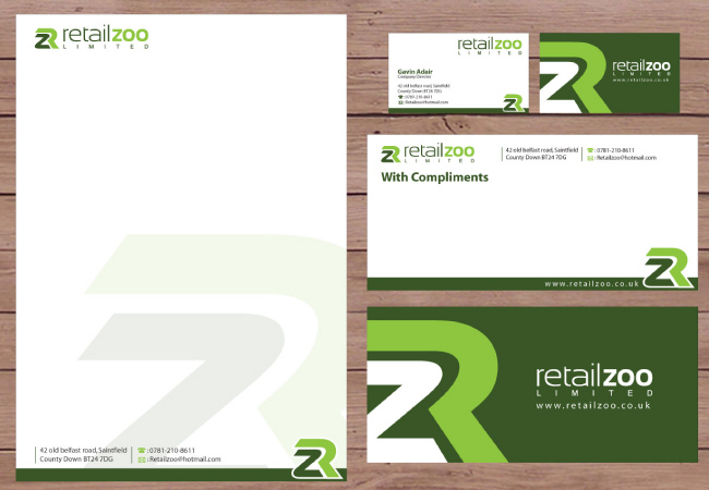 retail zoo stationery design
