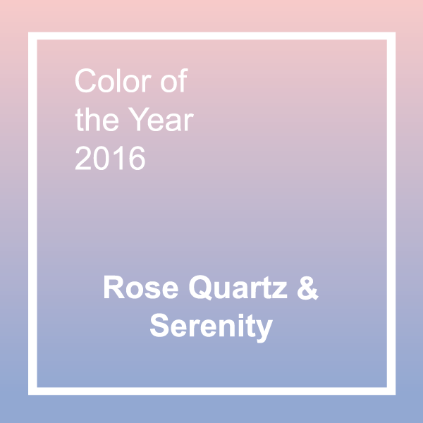Pantone 39 s 2016 colors of the year rose quartz and serenity for Color of the year 2016
