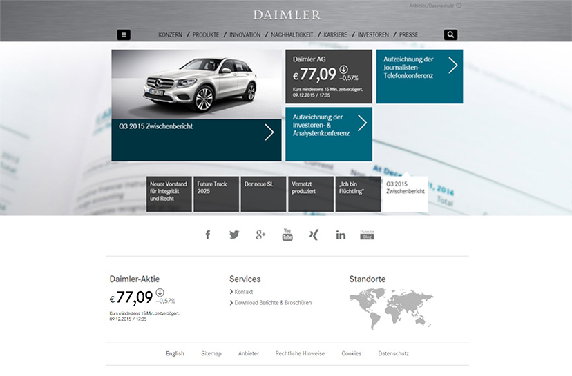 25 Classy Websites From The World S Top Car Companies Of 2015
