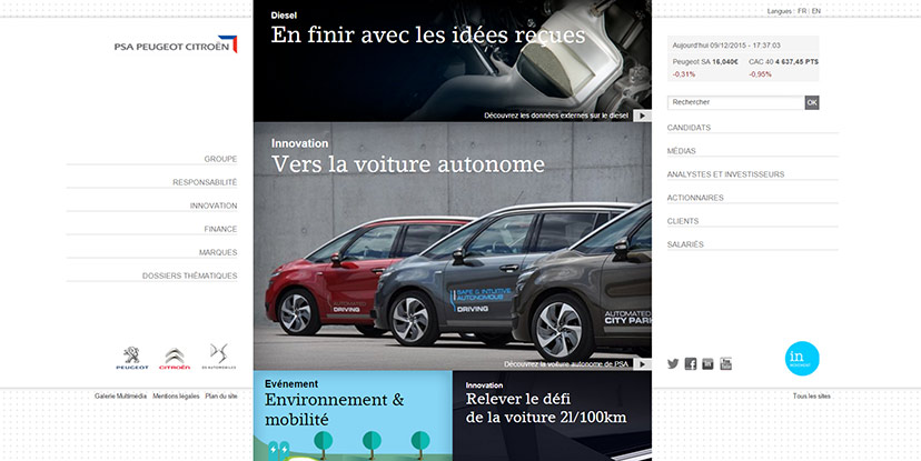 25 Classy Websites From The World's Top Car Companies Of 2015