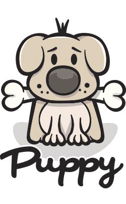 Cute Puppy Dog Logo Designs