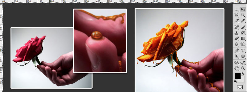 Creating Honey Covered Objects Photoshop Tutorial