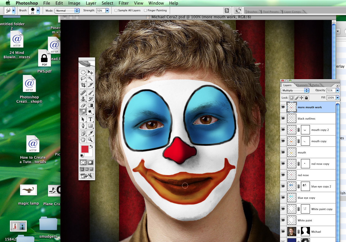 Send In The Clowns Photoshop Tutorial