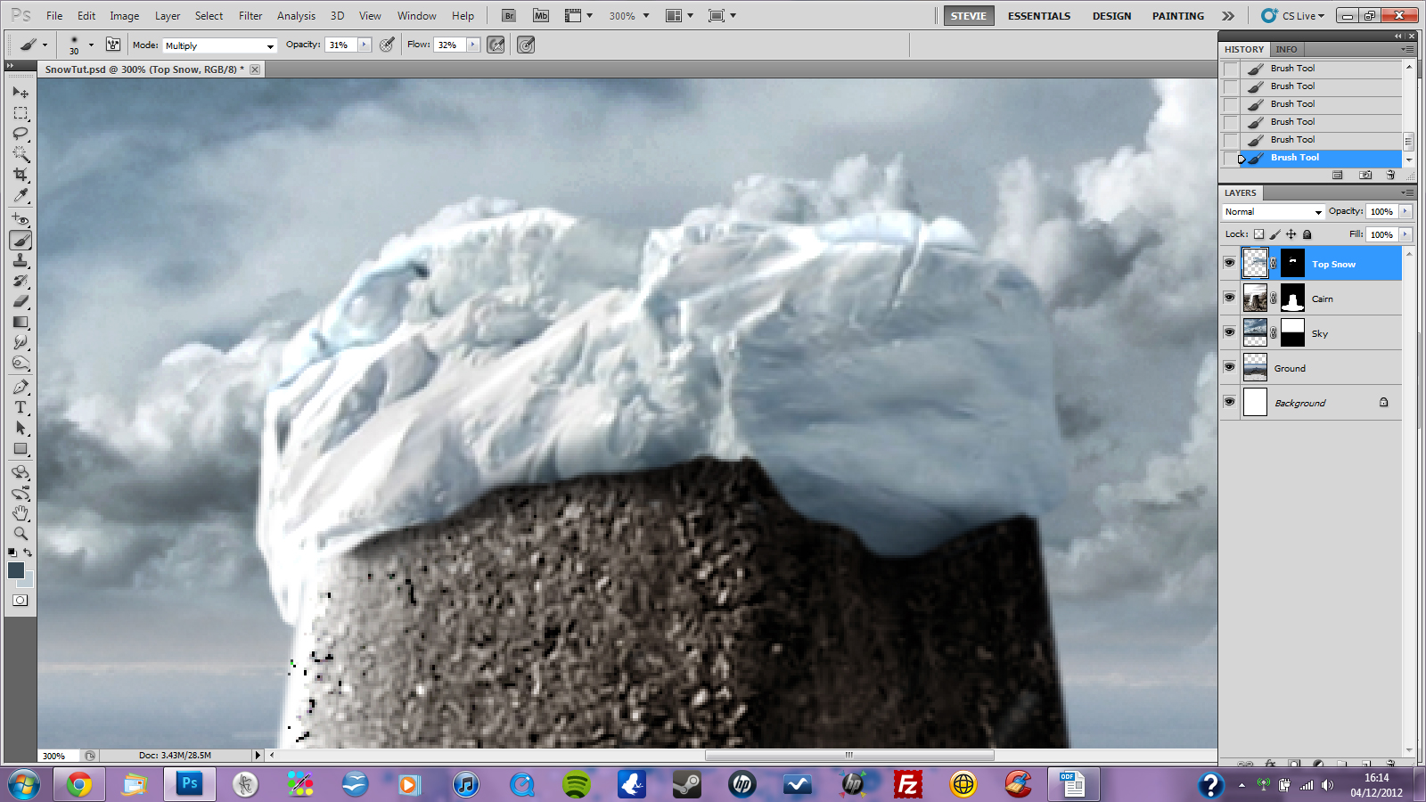 Snow ice and overpainting photoshop tutorial snow ice and overpainting photoshop tutorial baditri Images
