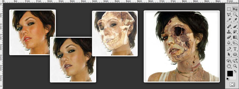 Zombifying A Person Photoshop Tutorial