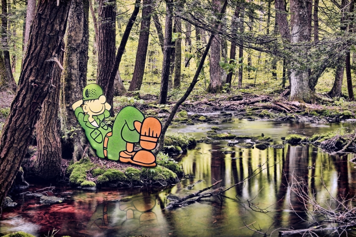 If Cartoon Characters Appeared In Real Life Settings