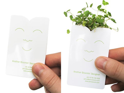 The coolest business card ideas for your brand the same principle was adopted by tur partner landscape architects with its portable garden business card the blueprint of a building complex sprouts colourmoves