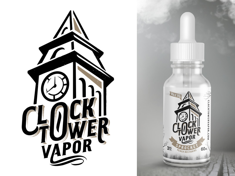 Clock Tower EJuice Logo By Erik Lauritzen
