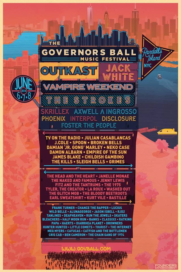 Poster design nyc - Governors Ball Festival 2014 Poster Design