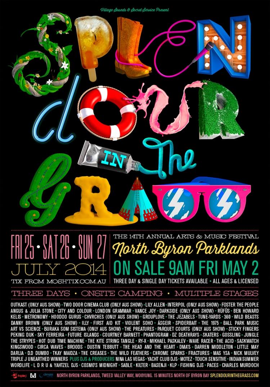 Poster design 2014 - Splendor In The Grass Festival 2014 Poster Design
