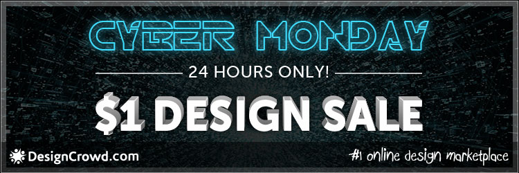 designcrowd cyber monday deal 1 design sale