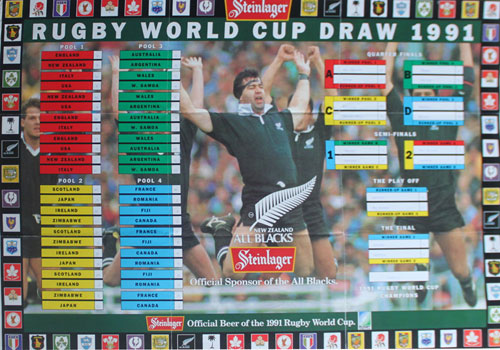 Rugby World Cup Draw 1991