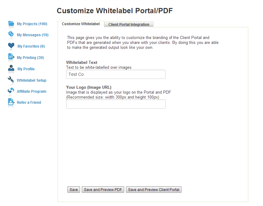Customize Whitelabel Screenshot 2